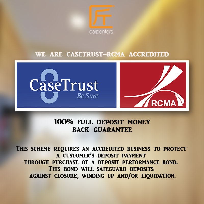 Carpenters is accredited with CASETRUST-RCMA !